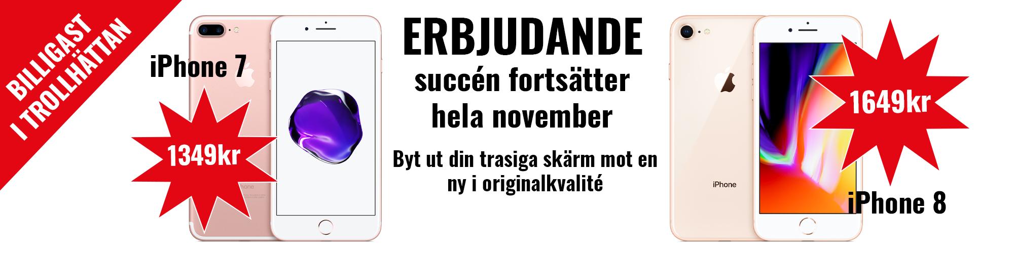 Erbjudande iphon7 och iphone 8 hos Mediatel i Trollhättan